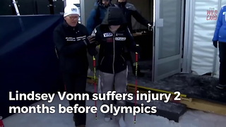 Lindsey Vonn Goes Down With Injury Two Months Before Olympics - Video