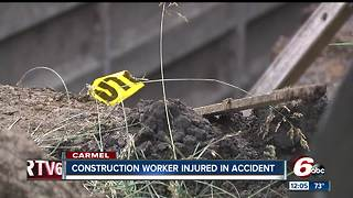 Construction worker hurt in Carmel - Video