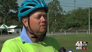 Father and daughter biking to beat cancer - Video