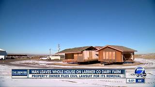 Man leaves whole house of Larimer County diary farm - Video