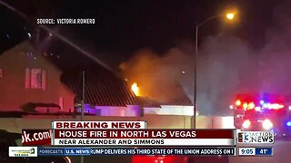 Firefighters respond to house fire in North Las Vegas