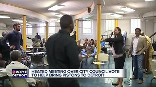 Meeting with Detroit councilwoman gets heated over Pistons' move downtown - Video