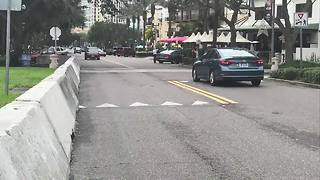 Concrete barriers keep Downtown St. Pete visitors safe - Video