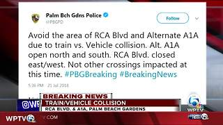 Train collides with vehicle in Palm Beach Gardens