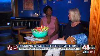 Lawrence woman hopes kindness will curb violence - Video