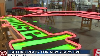 NYE Music Note Prepped For Holiday Bash - Video