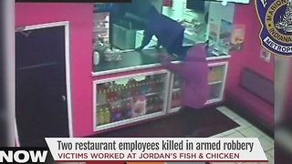 Two restaurant employees killed in armed robbery - Video