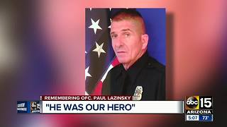 Community mourns loss of El Mirage police officer - Video