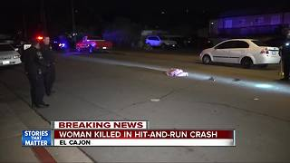 Woman struck, killed by vehicle on El Cajon street - Video
