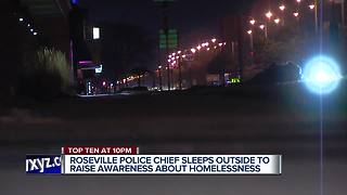 Roseville police chief sleeping outside - Video