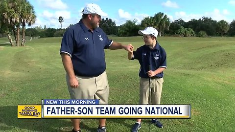 Father-son duo win Special Olympics golf title