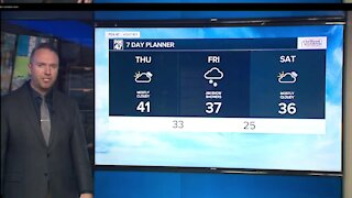 Mostly cloudy with some evening light rain showers possible
