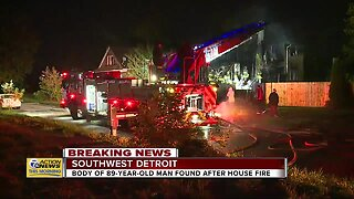 Body of elderly man found after house fire in southwest Detroit