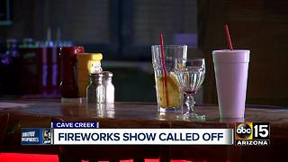Cave Creek fireworks show called off - Video