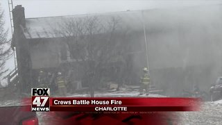 House goes up in flames in Charlotte