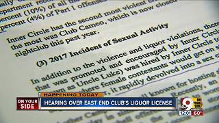 Hearing over East End club's liquor license - Video
