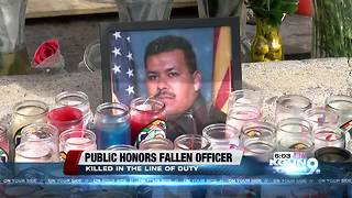 Public viewing for fallen Nogales police officer - Video
