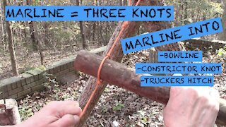 Marline Spike into 3 other knots