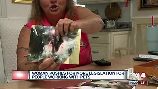 Woman claims her dog died from groomer's abuse - Video