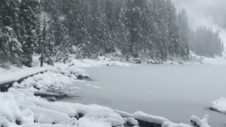 Snow Blankets Seattle-Area Mountains and Lakes - Video