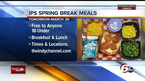 IPS offering free breakfast and lunch for students on Spring Break