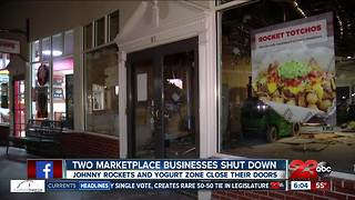 Johnny Rockets, Yogurt Zone close their doors at The Marketplace - Video