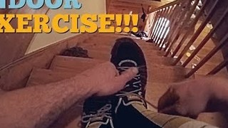 Parents Show Us How to Exercise Indoors With Three Kids - Video