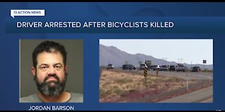 Driver arrested after cyclists killed in crash