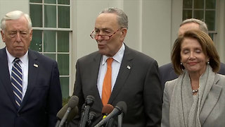 Schumer and Pelosi Say Trump Walked Out of Meeting on Border and Shutdown - Video