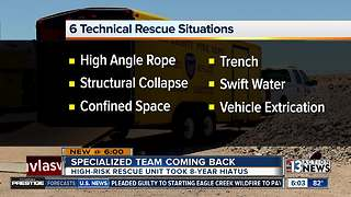 Clark County Fire Department brings back high-risk rescue unit - Video