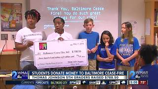 Baltimore students help to fight violence - Video