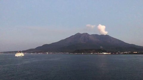 Sakurajima Volcano in Japan Emits Plumes of Ash Cloud