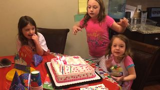 Birthday Girl Can't Wish Quick Enough - Video