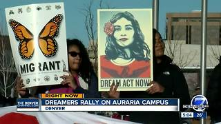 Dreamers rally at Denver's Auraria Campus - Video