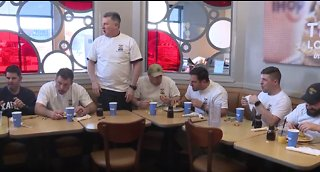 Cleveland fire beats cleveland police in pancake eating contest