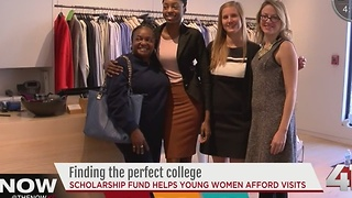 Scholarship fund helps young women afford college visits - Video