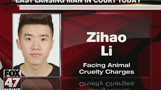 Man charged with animal cruelty in court today