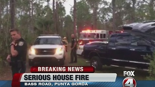 serious house fire bass road punta gorda - Video