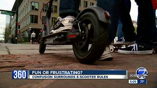 Electric Scooters still causing some confusion in Denver