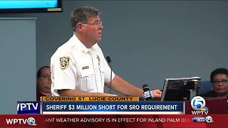 St. Lucie County Sheriff's Office $3 million short for SRO requirement - Video
