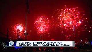 Last-minute preps underway for the Ford Fireworks spectacular - Video