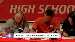Williamsville East trio continues their playing careers - Video
