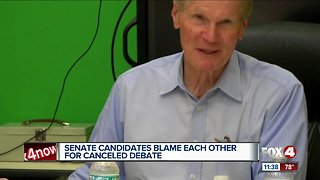 Debate between senate candidates cancelled - Video