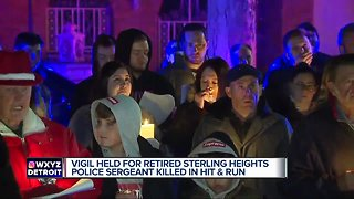 Vigil held for retired Sterling Heights police sergeant killed in hit-and-run - Video