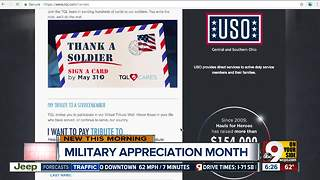 Local company collecting thank-you cards for soldiers - Video