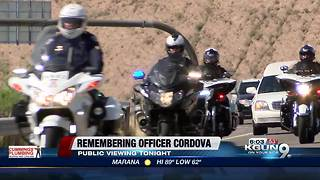 Public viewing for fallen Nogales police officer