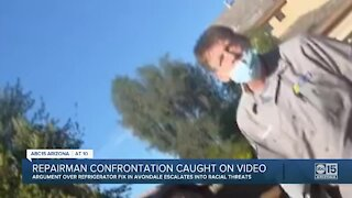 Repairman makes racial threats in confrontation caught on video