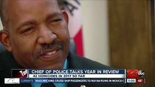 Bakersfield Police Chief Lyle Martin takes a look back at first year leading the department - Video