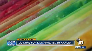 Quilting for kids affected by cancer - Video