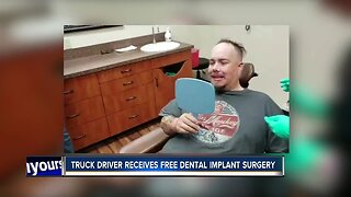 Truck driver receives free dental implant surgery